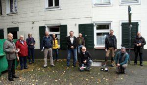 1. Spatenstich zu den Bauarbeiten <br>am Heimathaus