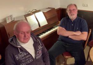 Hans- Ulrich und Diethelm:<br>musikalischer Gruß aus dem Heimathaus