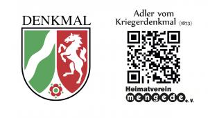 Read more about the article QR- Der alte Adler<br>des Kriegerdenkmals von 1873