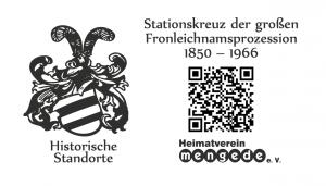 QR-Stationskreuz der Fronleichnamsprozession